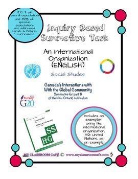 (ENGLISH) Summative Task Social Studies Canada's Interacti