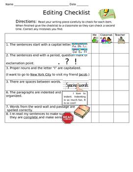ENL Editing Checklist