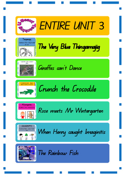 ENTIRE UNIT 3- Year 1-QLD- *6  Storybooks* Comprehension E