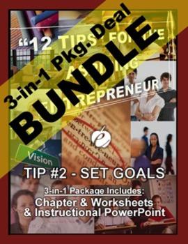 """ENTREPRENEURSHIP - Tip #2: """"Set Goals"""" 3-IN 1 BUNDLE (""""12"""