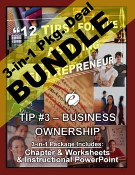 "ENTREPRENEURSHIP - Tip #3: ""Business Ownership"" 3-IN-1 BUN"
