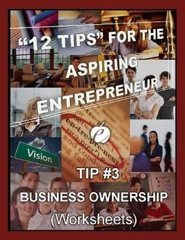 ENTREPRENEURSHIP:  Tip #3 - WORKSHEETS