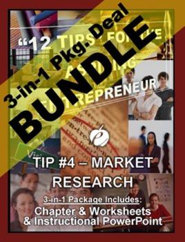 "ENTREPRENEURSHIP - Tip #4: ""Market Research"" 3-IN-1 BUNDLE"