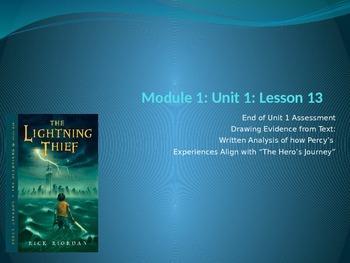 ENY ELA grade 6 Module 1 Unit 1 lesson 13 The Lightning Thief