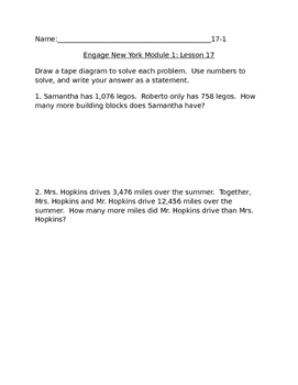 ENY Module 1 Lesson 17 Extra Practice