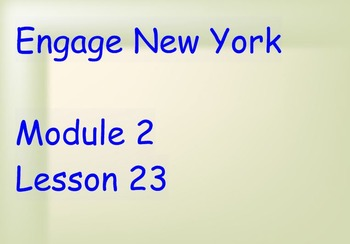 ENY Module 2 Lesson 23