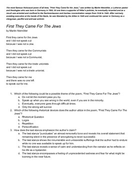 EOC Practice English II - Holocaust Poetry