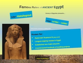 EPIC ANCIENT EGYPT - Rulers - 27 fun, engaging slides with