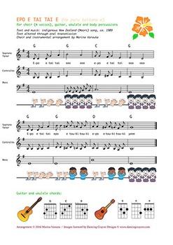 EPO E TAI TAI E. Musical partition for choir SATB and audi