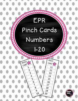 EPR  Pinch Cards Numbers 1-20