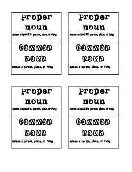 EPR Proper or Commom Noun