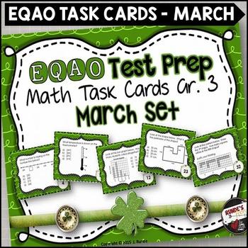 EQAO Math Task Cards - Grade 3 - March Set