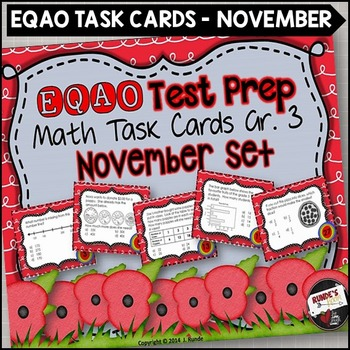 EQAO Math Task Cards - Grade 3 - November Set