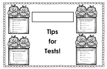 EQAO Test Prep Placemat Freebie!