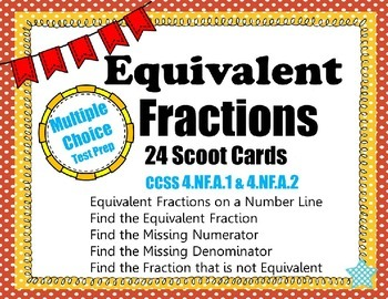 Equivalent Fraction Scoot CCSS 4.NF.A.1