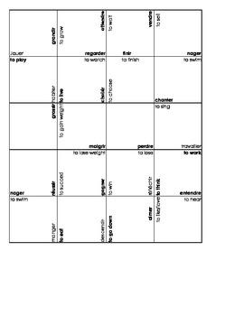 ER-IR-RE verbs Square Puzzles