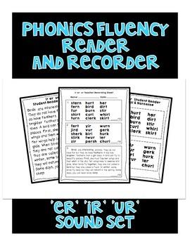 ER IR UR Sound - Phonics Fluency Assessment