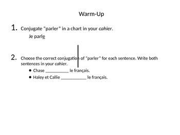 ER Verbs Practice PowerPoint