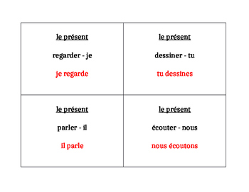 ER verbs in French Question Question Pass activity