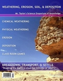 EROSION and WEATHERING Activities and Graphic Organizers