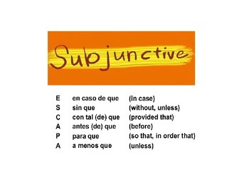 ESCAPA A /Subjunctive in adverbial clauses