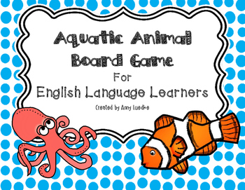 ESL Aquatic Animal Vocabulary Board Game
