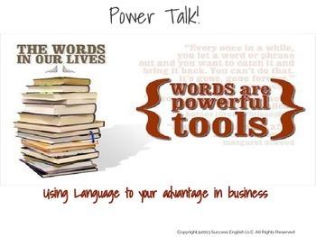 ESL Business English Class- Power Talk: Using Language to