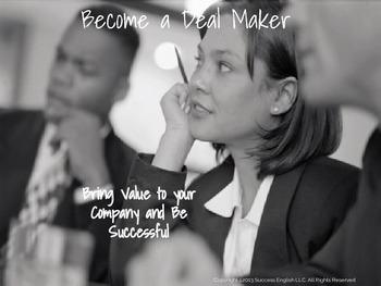 ESL Business English Class for Women- Become a Deal Maker