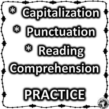 ESL:  Capitalization, Punctuation, Reading Comprehension