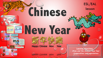 ESL Chinese New Year Bundle (Powerpoint and activity booklet)