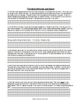 ESL Class Discussion Worksheet Package 1