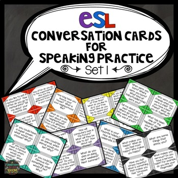 ESL Conversation Cards for Speaking Practice