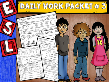 ESL Daily Work Packet # 3 (ELL Money, the Home, Questions
