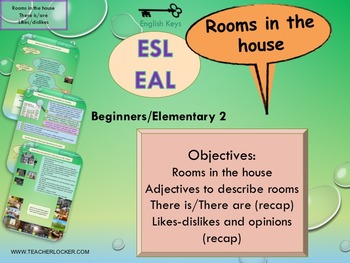 ESL/EAL  Home, rooms in the house, Unit 3 lesson 2 full le