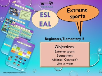 ESL EAL Freetime (Sports and ability) Unit 4 lesson 2 full