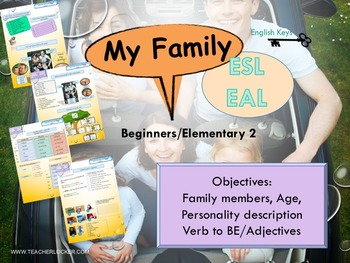 ESL/EAL my life (family, age, personality) Unit 2 lesson 1