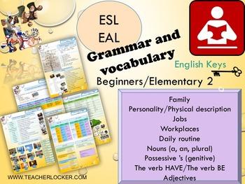 ESL/EAL Grammar full lesson PPT and activity booklet Unit