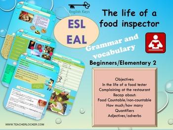 ESL EAL grammar lesson and worksheet Unit 5 lesson 5