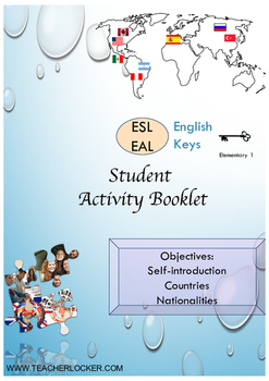 ESL EAL introduction, countries-nationalities Unit 1 lesso
