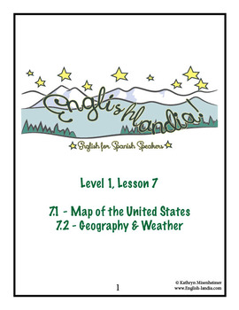 ESL, ESOL, EFL for Spanish Speakers Lesson 7 (Map of US, G
