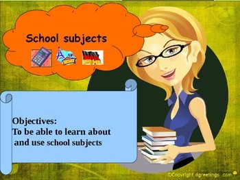 ESL English School subjects for beginners