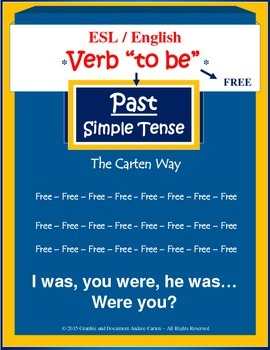 ESL / English Verb To Be - Past Simple Tense - FREE VERSION!