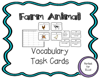 ESL Farm Animal Task Cards
