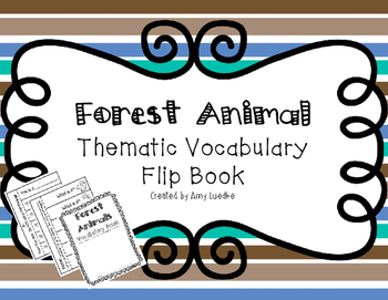 ESL Forest Animal Vocabulary Flip Books