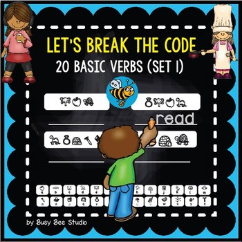 "ESL Game ""Break the Code"": Action Verbs (set 1)"