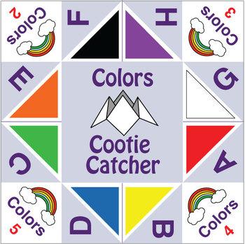 ESL Games - Cootie Catchers - Colors