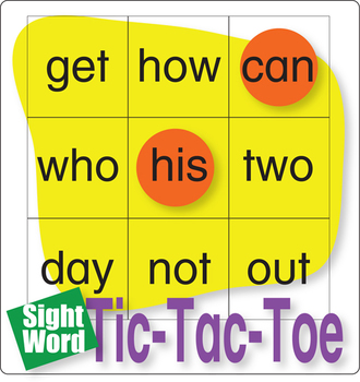 ESL Games-Easy Sight Word Tic-Tac-Toe 2