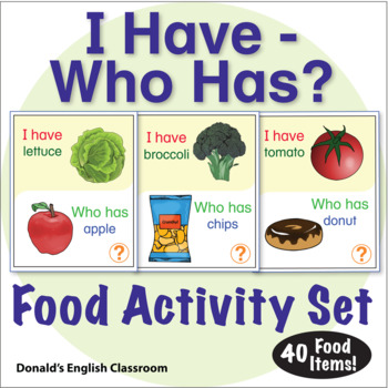 ESL Games-Food-I Have Who Has Activity Set