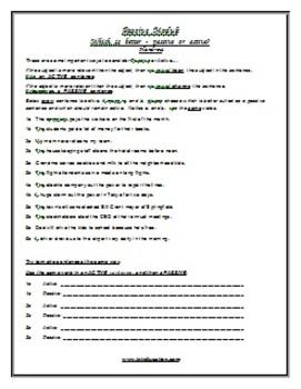 ESL Lesson Plan & Worksheets (Digital) - Passive 2