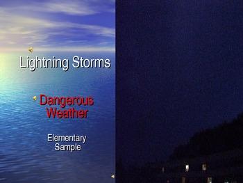 ESL Lightning Storms Sample PowerPoint for Elementary ELLs